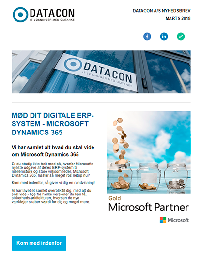 Datacon nyhedsbrev marts 2018