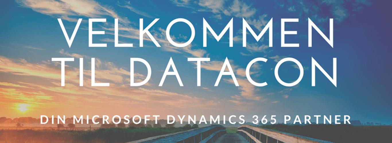 Velkommen til Datacon banner