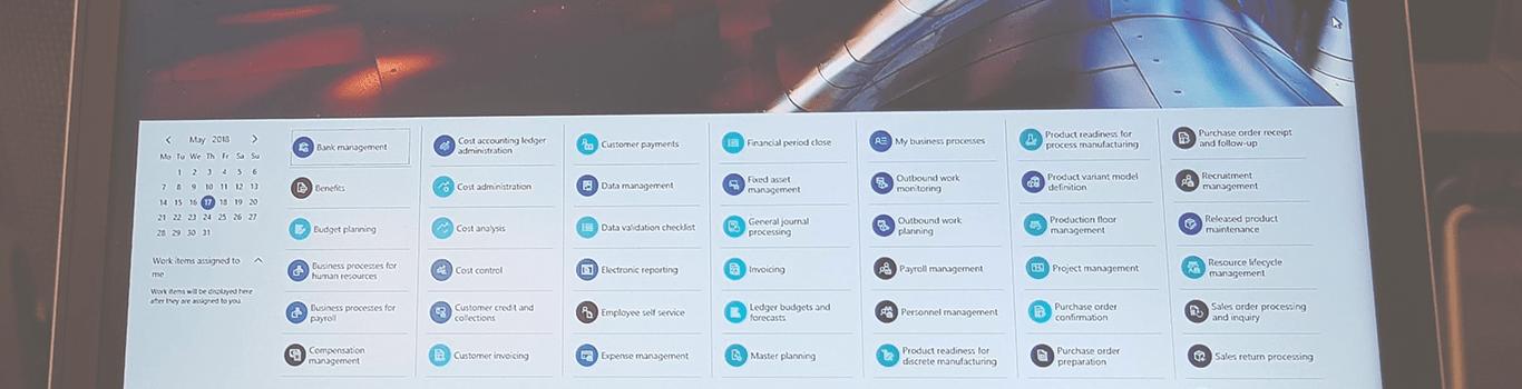 Microsoft Dynamics 365 skærmbillede