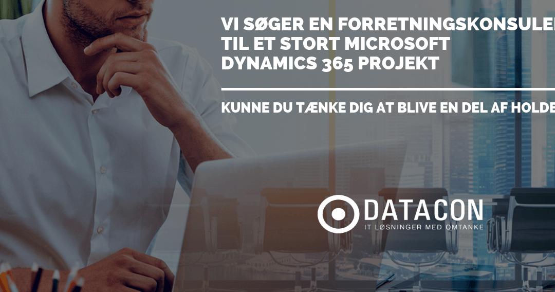 Datacon søger en Dynamics 365 Forretningskonsulent til vores Århus-kontor