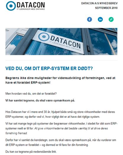 Datacon nyhedsbrev september 2018