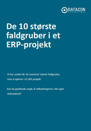 De 10 største faldgruber i et ERP-projekt whitepaper